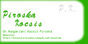 piroska kocsis business card